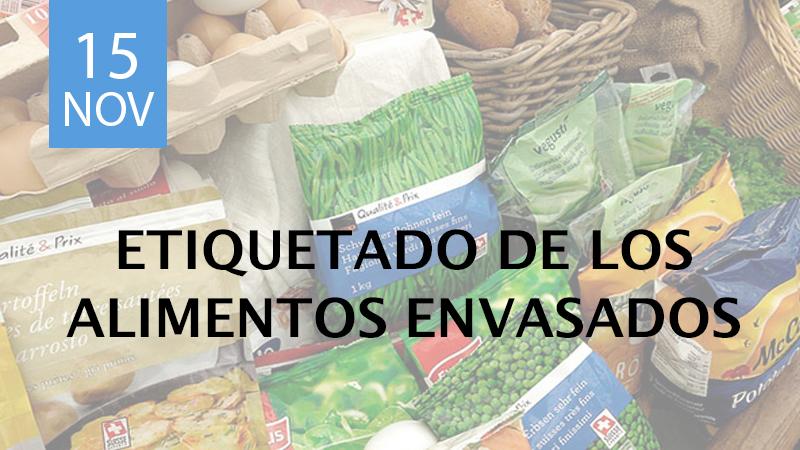 etiquetado de alimentos envasados