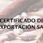 certificado de exportacion sae