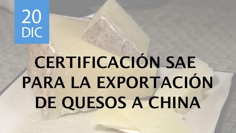 certificación SAE para la exportación de quesos