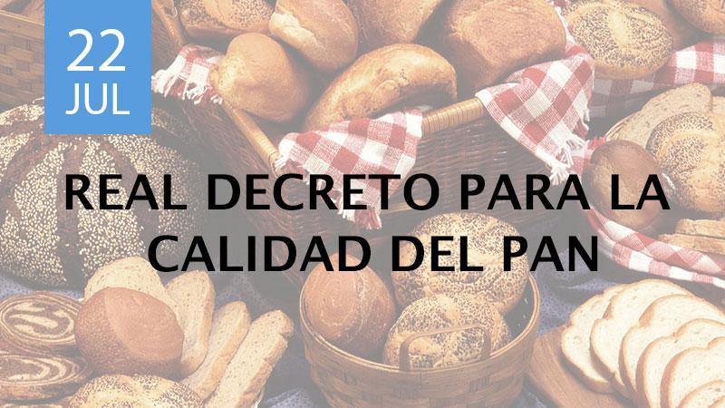 real decreto para la calidad del pan