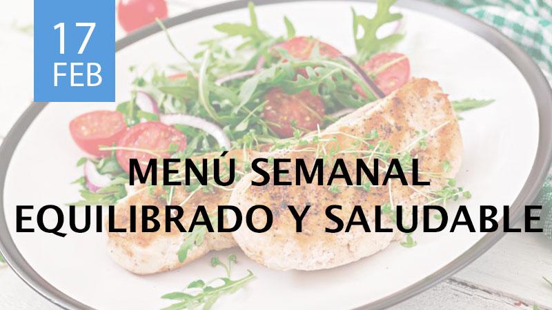 confeccionar un menú semanal equilibrado y saludable
