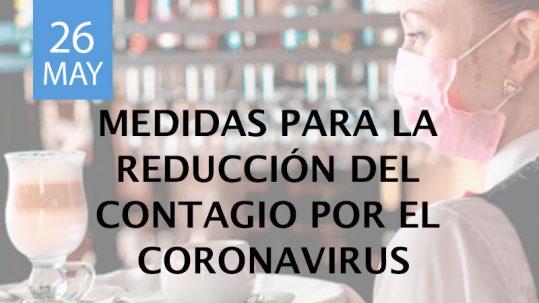 Medidas para la reducción del contagio por el Coronavirus