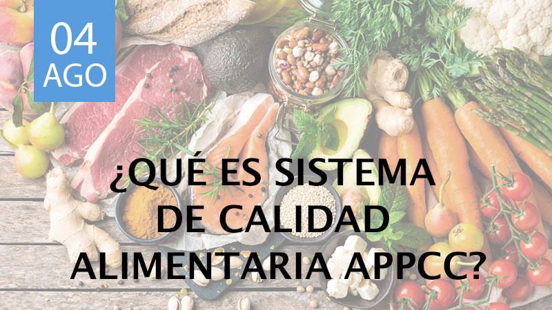 Sistema de calidad alimentaria APPCC